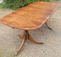 Yew Extending Dining Table to Seat Eight by Rackstraw